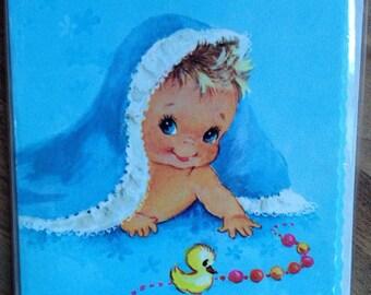 New Vintage Baby Boy Cards, Big Eye