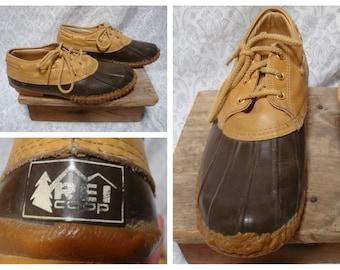 "Vintage Retro Men's REI Maine Hunting Shoe ""Bean Boots"" Leather Low Boots size 11"
