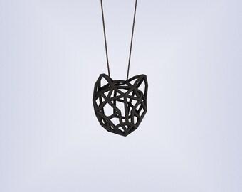 RUBBER CAT MEDIUM / 3D printed rubber-like pendant