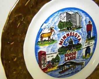 Minnesota Souvenir Plate Minnesota State Plate