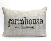 """farmhouse pillow, housewarming gift, wedding gift, farm pillow, christmas gift  """"The Farmhouse"""""""