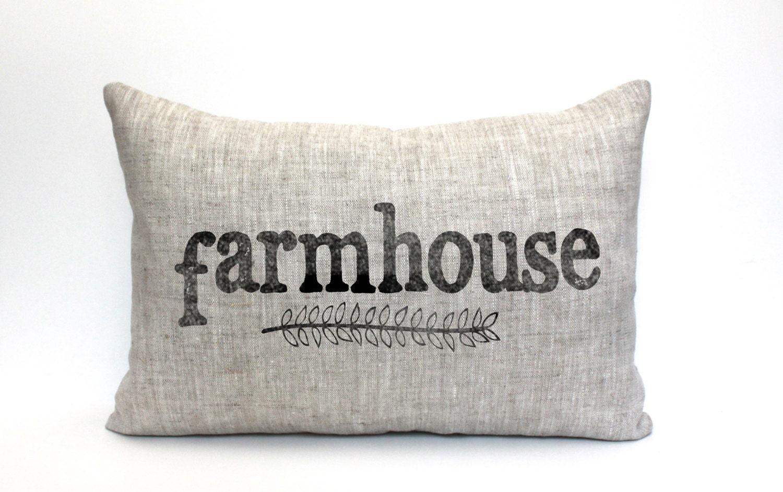 Farmhouse Pillow Housewarming Gift Wedding Gift Farm By