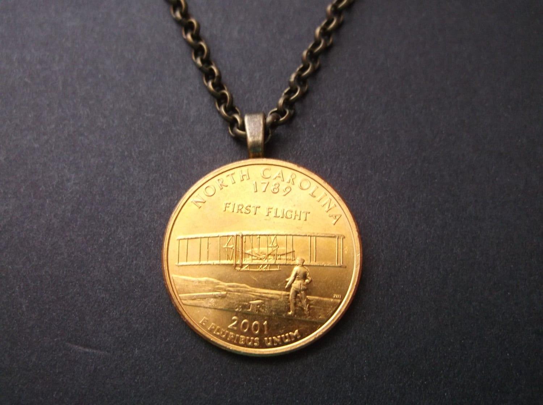 North Carolina United States Gold Colored Quarter Coin