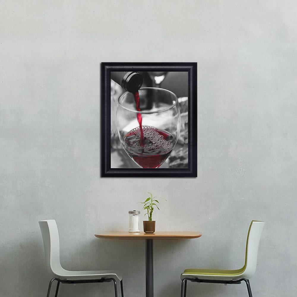 Kitchen Art Red: Kitchen Decor Wine Photography Red Wine Glass Wine By