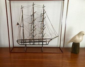 Don DeMott metal sailboat sculpture