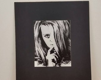 Vintage Model Art Photography Exhibit Print 1970 Psychedelic Signed Black and White by Chuck Ealovega
