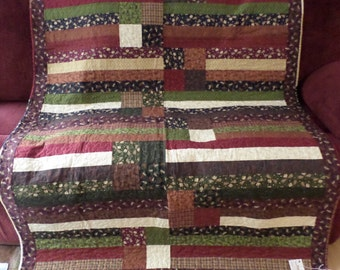 Moose on the Loose Quilt ~ Four in a Row Quilt