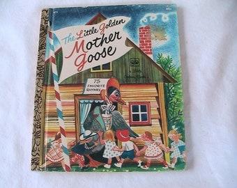 Mother Goose A Little Golden Book Vintage Children Child Mid Century Retro  Nursery Rhymes