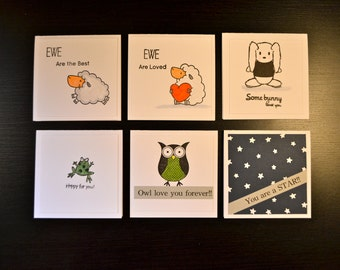 Lunchbox Notes, Lunchbox Cards, Backpack Love Notes, Back to School, Encouragement Cards, Lunch Box Notes, Set of 6