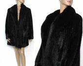 Vintage Black Mink Coat Stroller Length With Fox Fur Graggs Coat Mink Wedding Mink