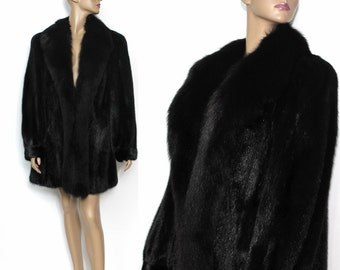 Vintage Black Mink Coat Stroller Length With Fox Fur Graggs Coat Mink Wedding Mink