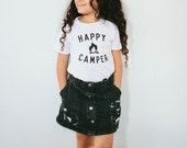 Happy Camper Children's t-shirt by The Bee & The Fox, Made in USA SIZE 2
