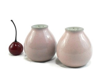 Shell Pink Harkerware Salt and Pepper