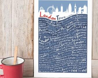 London skyline Print