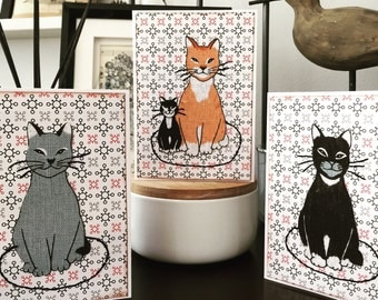 Cat on a Mat card set