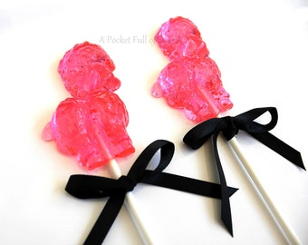 French Baby Shower, 12 Paris Birthday Party Favors, Paris Baby Shower, Paris Party, French Party, Gifts, FRENCH POODLE Hard Candy Lollipops