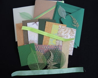 Woodsy -luxury 3 blank cards kit -OOAK ready to ship