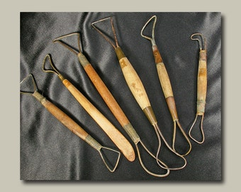 Vintage Set of 6 Clay Modeling Tools