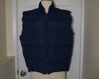 Navy Blue 'Eddie Bauer' Down Vest - Men's M