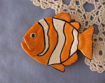 Clown Fish Ceramic Teabag Holder, Spoon Rest or Trinket Dish
