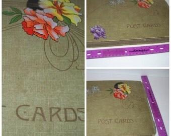 True Antique 1920's Art Deco Oversized Post Card Holder, Photo Album, Post Card Album, Vintage Cottage Decor