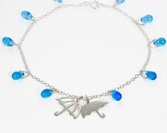 Raindrops Bracelet - Charm Bracelet - Silver - Handmade - Jewellery - Gift for Her