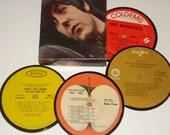 60s Music Coaster set vinyl record coasters