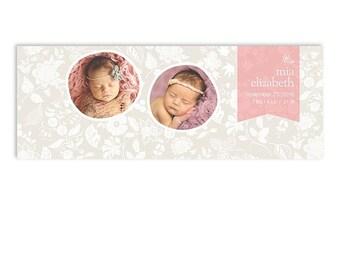 SALE HALF OFF Birth Announcement Facebook Timeline Cover Template - Mia - 1274
