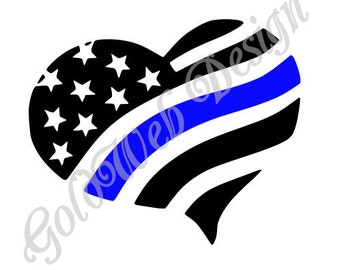 Police Thin Blue Line, Blue Life matter, USA Flag inspired  Vinyl Car Decal