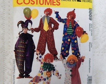 McCall's Clown Costumes  Pattern no 8869  Size 34 -36   Free ship in USA