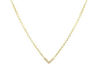 Yellow gold + diamonds chevron necklace