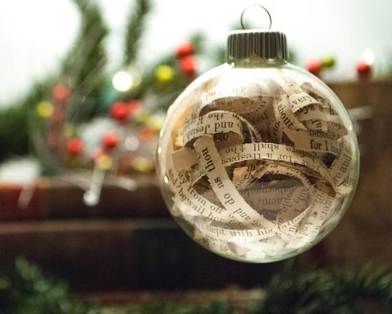 Items similar to Christian Christmas Ornament - Bible ...