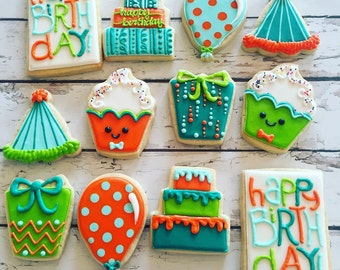 Boy Birthday Cookie assortment