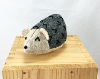 Catnip Cat Toy Hedgehog: gray and fawn,