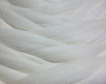 SALE Shep's Merino Wool top Roving 19 microns, ,Color: Milk white Ultra SOFT