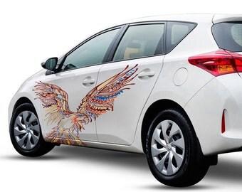 Car Decal Hippie Etsy - Custom car art decals