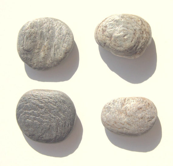 Items similar to 4 grey flat pebbles beach stones craft for Flat stones for crafts