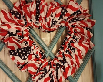 Large Heart Bandana Wreath - Made to Order