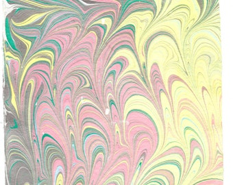 """Hand Marbled Hand Made Cotton Paper 8.5 x 11""""  2016-7"""