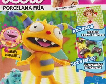 Cold Porcelain magazine 2 (2015)  by Leticia Suarez del Cerro (Spanish) DISNEY Projects Step by Step Henry, Summer, Monsters INC  and more