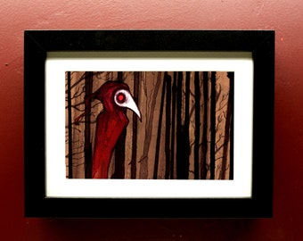 A Forest Archival Print in 4 by 6 Inch Black Frame