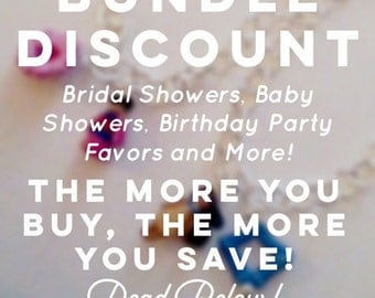 BUNDLE DISCOUNT! Message me for a large quantity order! Custom Bridesmaid/Party Favor Jewelry