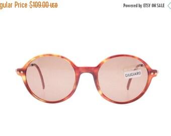 SALE -15% Giugiaro Design Vintage tortoise shell 80s round pantos sunglasses, New old stock Labeled