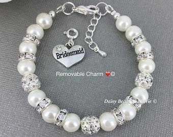 Ivory Pearl Bracelet Ivory Bracelet Pearl Jewelry Bridesmaid Bracelet Bridesmaid Gift Bridal Jewelry Wedding