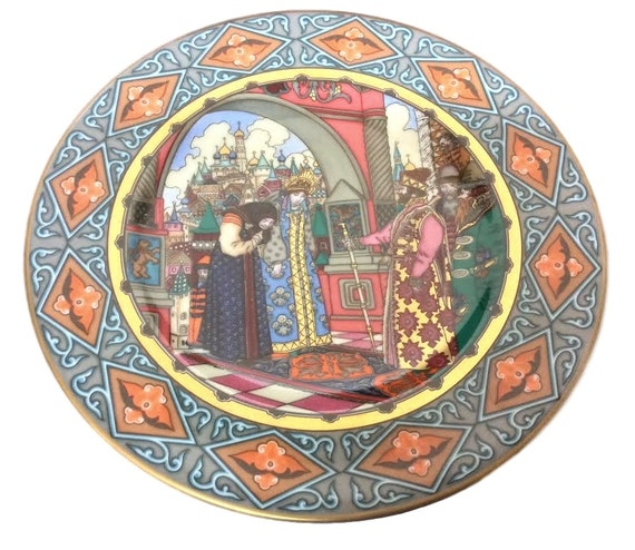 Villeroy and Boch Russian Fairy Tale Plate Vassilissa is Presented to the Tsar, Heinrich Germany, Vintage Plate, Boris Zvorykin