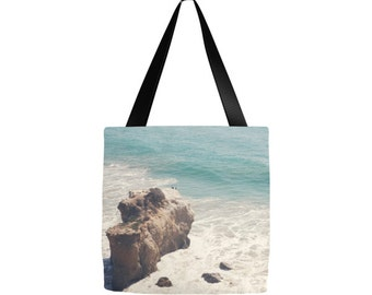 Malibu tote bag, california tote, Grocery bag, teacher tote, gym bag, beach bag, yoga gear, diaper bag, gifts, birthday, new Mom, El Matador