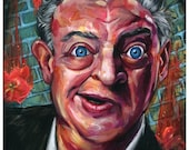 "Rodney Dangerfield Art Print - Wall Art - Wall Decor - Art Poster - ""No Respect"" by Black Ink Art"