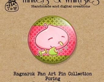 Ragnarok Poring Fan Art PIN BACK Button