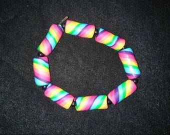 Rainbow Fimo RAVE Bracelet