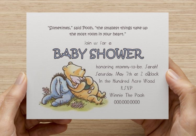 classic winnie the pooh baby shower invitation print your